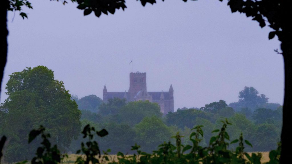 View of Cathedral from across fields